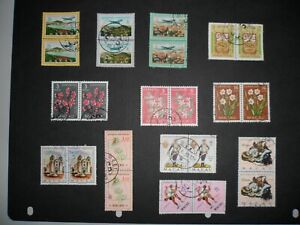 12 X  Macau 1950-70's high values include key def top values all in pairs VFU