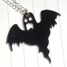 Spooky Halloween Small Ghost Charm Necklace Fancy Dress