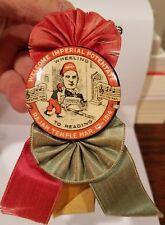 """1914 Wheeling W. VA to Reading, PA Imperial Potentate Rajah Pinback Ribbon 4"""""""