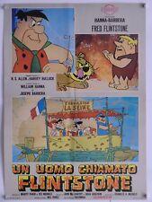 UN UOMO CHIAMATO FLINTSTONE animazione HANNA & BARBERA fotobusta soggettone 1967