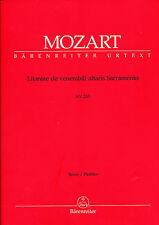 Mozart - Litaniae de venerabili altaris Sacramento Es-Dur KV 243 - Partitur
