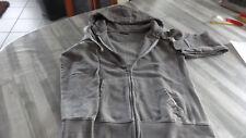 Street one Sweat Shirt Jacke mit Kapuze grau Gr. 40