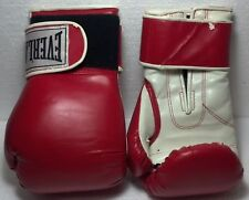 Everlast pair of boxing gloves 12oz. Red and white. Good condition