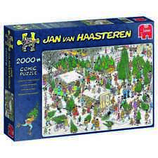 Jan van Haasteren Puzzle 2000 Piece JVH Cartoon The Christmas Market Jumbo Xmas
