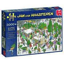 Jan van Haasteren Puzzle 2000 Piece JVH Cartoon The Christmas Tree Market Jumbo