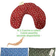 Cuscino Termico Noccioli Ciliegia Collare Cervicale-Lavabile- Colori ASSORTITI