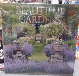 Beautiful Gardens 2022 Square Wall Calendar New Free Postage
