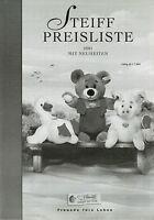 Steiff Preisliste 2001 mit Neuheiten price list Panda Hahn Snuffi Hasso  Var. B