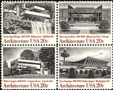 1982 20c Architecture, Block of 4 Scott 2019-22 Mint F/VF NH