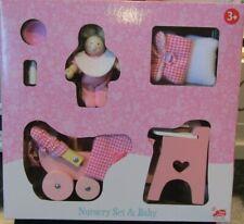 Le Toy Van Daisylane Dolls Nursery Set - Baby, Pram, Highchair & More - BNIB