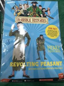 Smiffys HORRIBLE HISTORIES REVOLTING PEASANT SIZE Large 10-12 Years Book Day