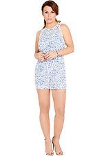 Women's Floral Cotton Blend Jumpsuits & Playsuits