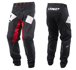 ONE INDUSTRIES VAPOR MTB DH BIKE PANTS BLACK / RED downhill cycling trail riding