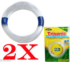 30ft Invisible flexible Hanging Wire Supports Up to 20lb Clear Nylon New