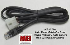 MFJ-5114I Pre-wired Rig Interface Cable For MFJ-939 Auto Tuner And Icom Radios