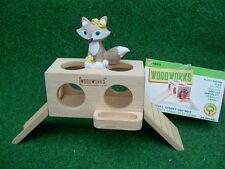 HAMSTER Spielplatz Hamsterhaus aus Naturholz  für Hamster Mäuse und Gerbils  NEU