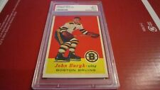 1957-58 TOPPS~#22~JOHNNY BUCYK~RC~HALL OF FAME MEMBER~BOSTON BRUINS~PSA 7 (MC)