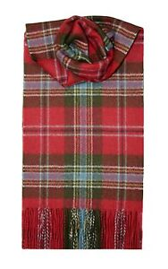 MACLEAN OF DUART WEATHERED TARTAN SCARF 100% LAMBSWOOL  by LOCHCARRON