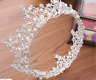 5cm High Full Crystal pearl Luxury Wedding Bridal Party Pageant Prom Tiara Crown