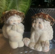 Dreamsicles Lot Of 2: Praying And Smiling Cherubs Signed by Kristin Hayes '93