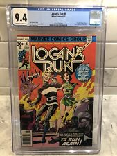 LOGAN'S RUN #6🔥🔥CGC 9.4🔥🔥1st Thanos Story🔥🔥WHITE PAGES🔥🔥