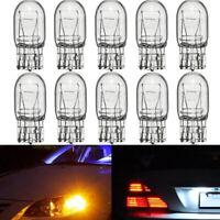 10x T20 7443 W21/5W R580 Clear Glass DRL Turn Signal Stop Brake Tail Bulb 12V