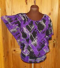 EVIE black grey purple chiffon batwing shortsleeve kaftan kimono tunic top 12 40