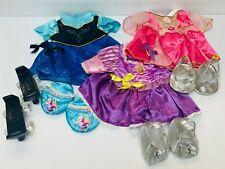 Build* A* Bear* Clothes Lot Disney Anna Rapunzel Aurora Shoes Slippers BAB Set 4