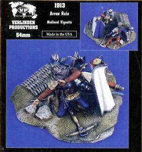 Verlinden Productions 1:32 54mm Arrow Rain Medieval Vignette 2 Figures Kit #1913