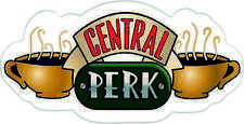 Friends Central Perk coffee TV Sticker, LARGE WATERPROOF PRINT