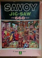 Vintage Tower Press 660 Piece Savoy Jigsaw The Pet Shop Puzzle