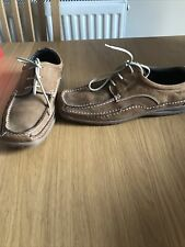 Jones Mens Tan Brown Nubuck Leather Smart Casual Lace Up Shoes Size 7