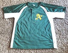 """OAKLAND A'S  # 42  PULLOVER TWO BOTTON  JERSEY  BY BADGER SPORTS  MEN""""S   LARGE"""