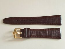 "Brand New 20mm Omega ""Style"" Brown Leather Strap + 16mm Gold Plated Buckle"