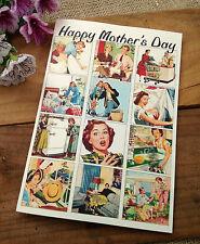"""GRANDE festa della mamma fatto a mano carta """"Retrò"""" - MAMMA NAN nonna"""