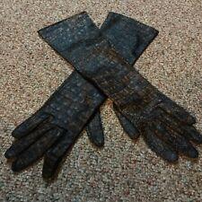 Women's Hansen Brown Black Dress Gloves Size 6