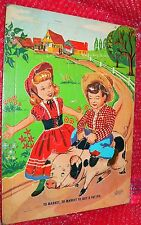 vintage tray puzzle  TO MARKET, TO MARKET TO BUY A FAT PIG   E.E.Fairchild