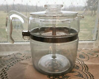 Vintage Pyrex Flameware 9 Cup Stove Top Coffee Pot Percolator 7759 Complete Flaw