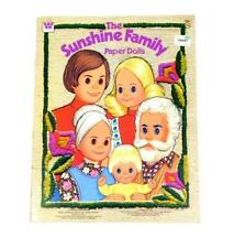 Uncut Vintage 1977 Paper Doll Book - The Sunshine Family - Whitman - New