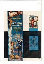 Vintage Thurston The Magician Houdini Herrmann Fawkes Marchand Ad Print C832