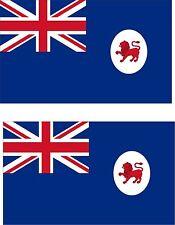 2x sticker Adesivo Adesivi decal macbook Vinyl auto australia bandiera tasmania