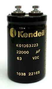 Condensatore Elettrolitico KENDEIL 22000uF 63VDC  51 x 79 mm