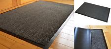 Heavy Duty Non Slip Rubber Barrier Mat Rugs Back Door Hall Kitchen Grey 90x150cm
