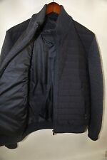 #178  Corneliani Knit Contrast Quilted Down Jacket Size 50