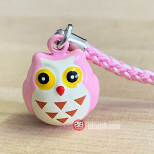 Lucky Owl Japanese Bell 2 cm. Lucky and Clever Amulet