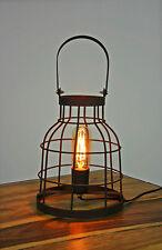 Tischlampe Tischleuchte Gitter Metall Industrielook Gitterlampe Fabrikstil