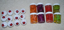 Halloween Decorations Scary Party Props Plastic Eyeballs Gummy Reptiles Spiders
