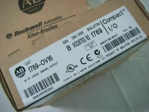 New Factory Sealed AB 1769-OV16 SER B CompactLogix 16 Point Sink Output Module