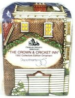 Dept 56 Crown & Cricket Inn Ornament Charles Dickens Heritage Collectors Edition