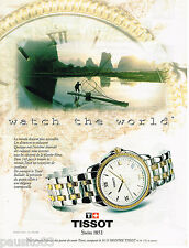 PUBLICITE ADVERTISING 065  1995  la montre TISSOT  the world